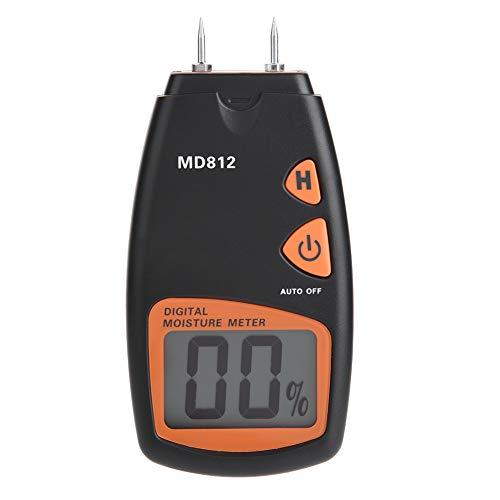 Akozon LCD Digital Holzfeuchtigkeitsmesser Tester Tragbare Detektor Datum Halten Große Größe HD LCD Display mit 2 Ersatz Sensor Pin für Holz, Bambus, Papier, Teppich und etc reichweite 5% -40% -