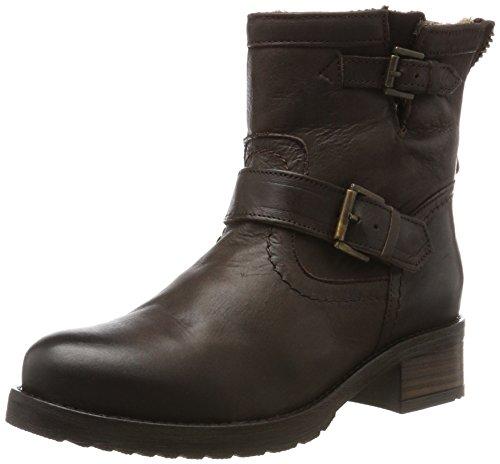 Buffalo London Damen ES 30493L Mexico Suede Biker Boots, Braun (Castanho 05), 39 EU
