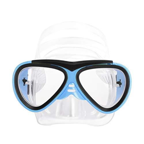 Mädchen Jungen Schnorchelbrille Taucherbrille Kinder Sport Schwimmbrille Tauchset mit Tauchmaske, Tempered Glas, Verstellbares Silikonband, 5-12 Jahren