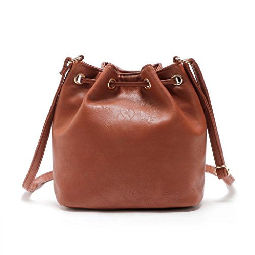2017 Borse donna,Kangrunmy®Borsa a tracolla borsa a tracolla Messenger Borsa di cuoio delle donne Marrone