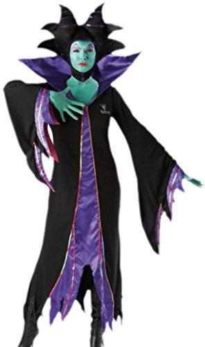 Karnevalsbud - Damen Maleficent Dunkle Fee Kostüm, S, (Kostüm Maleficent'halloween Junge)