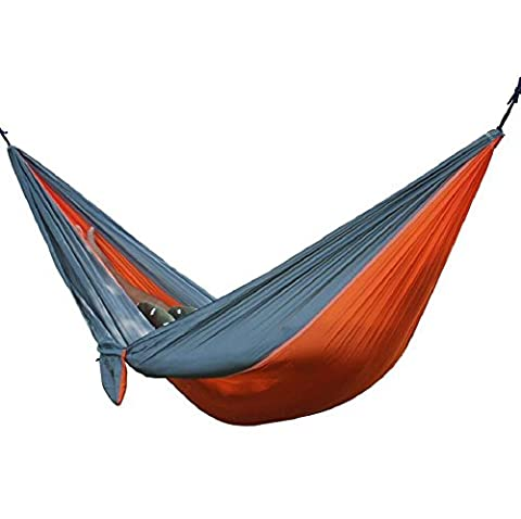 LD@Portable Double Person Camping Hanging Bed Garden Leisure Travel Hammock