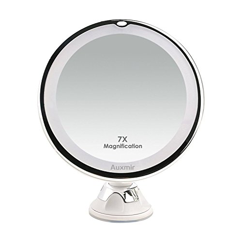 Auxmir Kosmetikspiegel LED Beleuchtet mit 7X Vergrößerung