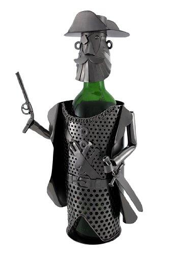 Pirate Captain azienda pistola e spada metal Art Wine Bottle display
