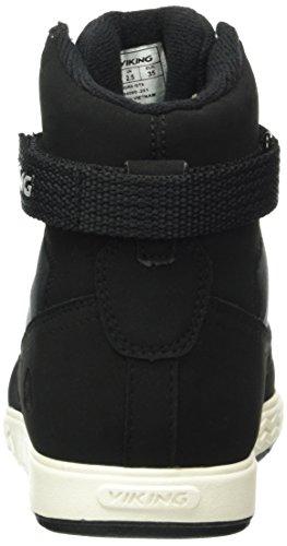 Viking Unisex-Kinder Vigra High-Top Schwarz (Black/White 201)