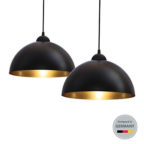 b.k. Luz de 2unidades colgante Leuchten metal techo colgante lámpara E27
