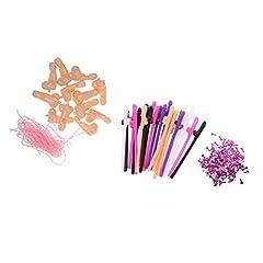Idea Regalo - MagiDeal 12 Pezzi Fischio Pena+ 20 Pezzi Cannucce+Confetti Per Addio Al Nubilato
