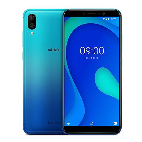 WIKO Y80 + Carcasa - Smartphone 4G de 5,99' (Octa-Core 1,6 GHz, Cámara Dual 13 MP, batería 4000 mAh, 32 GB de ROM, 2 GB de RAM, Android 9, Dual SIM) - Color Turquesa