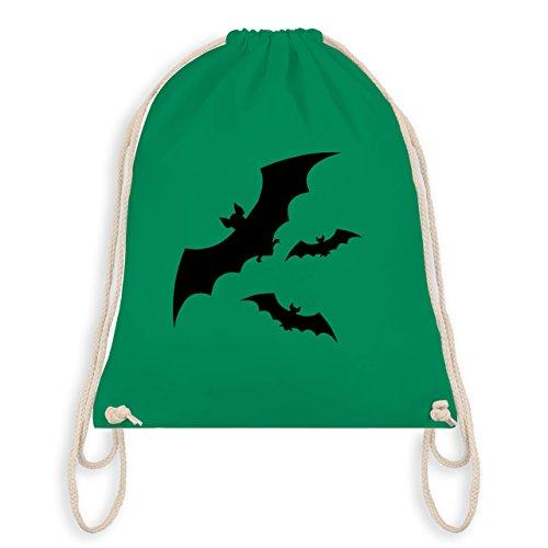 Halloween - Fledermäuse - Unisize - Grün - WM110 - Turnbeutel & Gym Bag