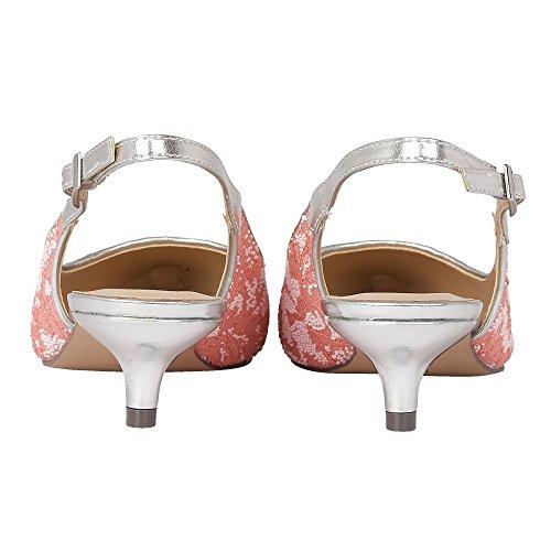 Lotus Kohar, Chaussures À Lacets Pour Femmes Avec Bride En T En Dentelle Corail