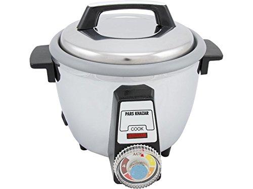 Orientalischer Reiskocher Pars Khazar 101TSE für knusprigen Reis nach der Tahdig-Methode, aus Edelstahl, 4 Personen