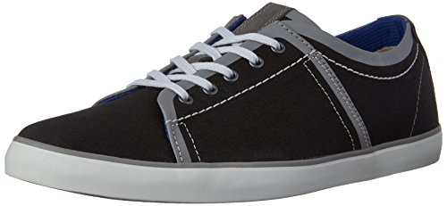 Clarks Rorric Plain Sneaker Black Canvas
