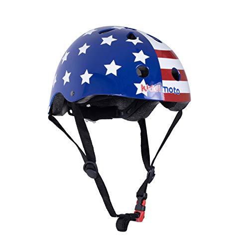 kiddimoto 2kmh018s - Design Sport Helm Stars und Stripes, Easy Rider S für Kopfumfang 48-53 cm, 2-5 Jahre (Stars And Stripes-flagge)