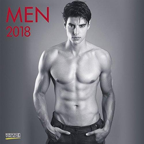 Men 2018: Broschürenkalender mit Ferienterminen. Erotik-Kalender in schwarz weiß. 30 x 30 cm