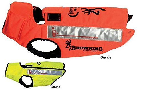 gilet de protection sanglier cano concept by browning protect pro chien male orange - taille 55