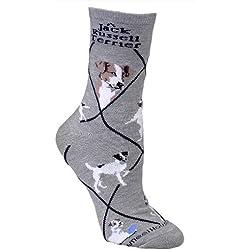 Jack-Russell -Terrier-Hunde Grau Baumwolle Damen-Socken