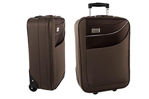 Maleta semirrígida PIERRE CARDIN marrón mini equipaje de mano ryanair S181