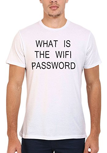 What Is The WIFI Password Geek Men Women Damen Herren Unisex Top T Shirt .Weiß