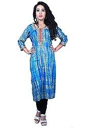 Maasha Women's Georgette Kurti (Maashakurti1003_Multicolor_Large)