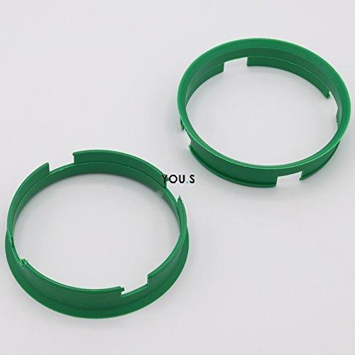 2 x CENTERING RING DISTANCE RING FOR ALUMINUM RIMS Z10D 72,6