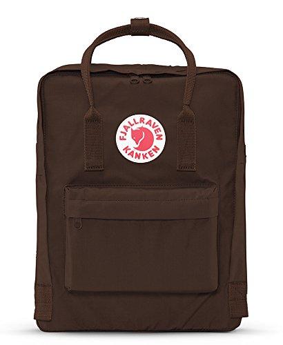 Fjällräven Kånken Polypropylene (PP),Vinylon Blue,Pink backpack - backpacks (Polypropylene (PP), Vinylon, Blue, Pink, Monotone, Unisex, Front pocket, Side pocket, Zipper) Marrone