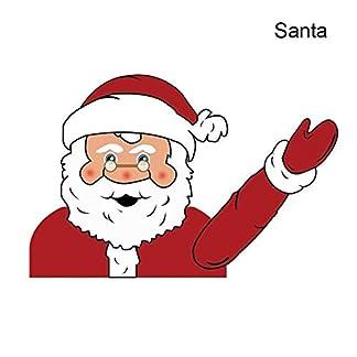 Bxchx Calcomanías para limpiaparabrisas de Papá Noel o muñeco de Nieve