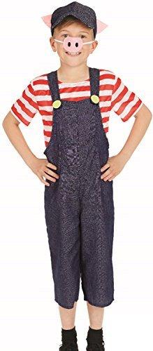 Mädchen Jungen drei kleiner Pigs Welttag des buches-tage-woche Märchen Kinderzimmer Reim Tierfarm Natur Kostüm Kleid Outfit 4-12 Jahre - 8-10 years