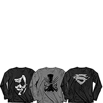 Sayitloud printed full sleeve t shirts pack of 3