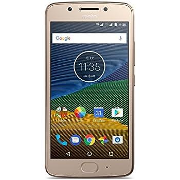 Moto G 5ª generación - Smartphone libre Android 7 (pantalla de 5'' Full HD, 4G, cámara de 13 MP, 3 GB de RAM, 16 GB, Qualcomm Snapdragon 1.4 GHz), color dorado