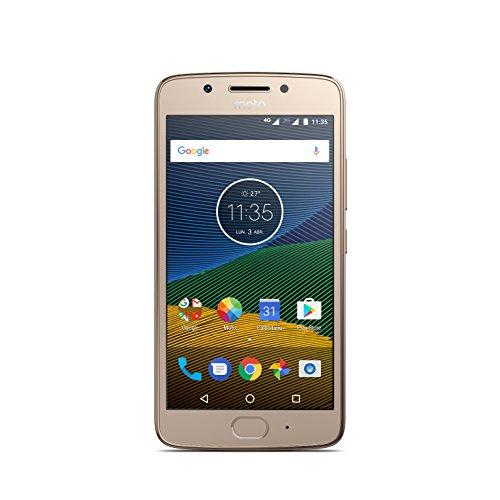 Moto G 5ª Generación - Smartphone Libre Android 7 (Pantalla de 5'' Full HD, 4G, cámara de 13 MP, 2 GB de RAM, 16 GB, Qualcomm Snapdragon 1.4 GHz), Color Dorado