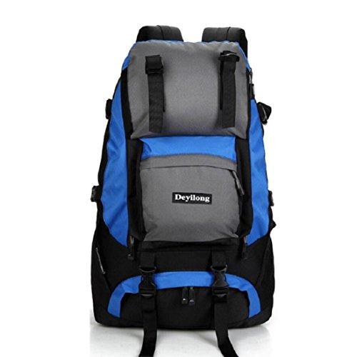 Z&N Hochwertige Nylon 40L Kapazität Outdoor Sport Bergsteigen Klettern Camping Rucksack Wandergepäcktasche Umhängetasche Multifunktionsrucksack Unisex G