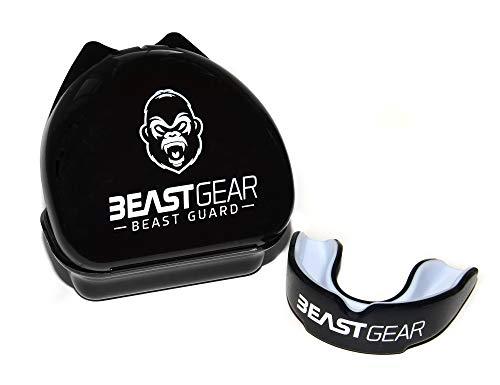 Beast Gear - Protector Bucal Boxeo / Protector de Encía 'Beast Guard' - para boxeo, MMA, rugby, muay thai, hockey, judo, karate, artes marciales y todos los deportes de contacto