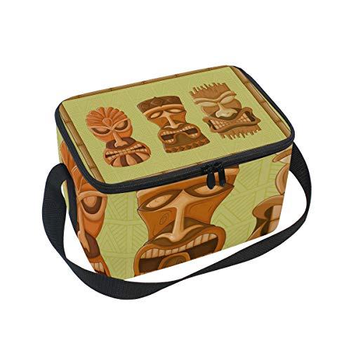 Bolsa de almuerzo Art Tribal Máscara Símbolo Cooler para Picnic hombro correa...
