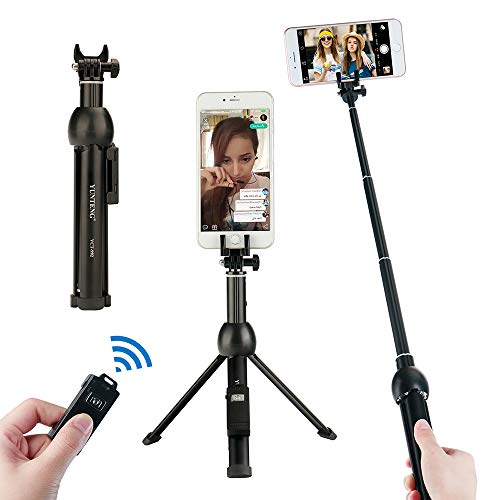 Yunteng 3 in 1 treppiede Desktop palmare allungabile Mini Selfie Stick monopiede Wireless per Android iPhone 7 Sumsang Galaxy Huawe
