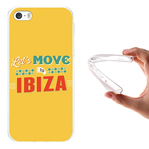iPhone SE iPhone 5 5S Hülle, WoowCase Handyhülle Silikon für [ iPhone SE iPhone 5 5S ] Seefahrerstil- Leuchtturm Handytasche Handy Cover Case Schutzhülle Flexible TPU - Transparent Housse Gel iPhone SE iPhone 5 5S Transparent D0170