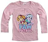 PAW PATROL Langarmshirt Mädchen Baumwolle, rosa, 01, (Herstellergröße: 98/104)