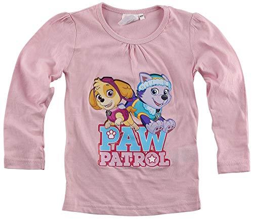 PAW PATROL Langarmshirt Mädchen Baumwolle, rosa, 01, (Herstellergröße: 110/116)