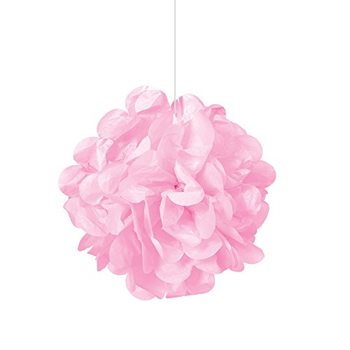 Unique Party Paquete de 3 pompones pequeños de papel de seda Color rosa claro 23 cm 64210