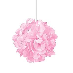 Unique Party Paquete de 3 pompones pequeños de papel de seda Color rosa claro 23 cm 64210
