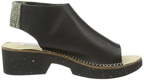 Clarks 261237194, Sandali a punta aperta Donna Nero (Black Leather)