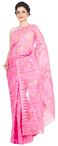 RLB Fashion Women's Cotton Silk Saree (Rlb-00204_Pink)