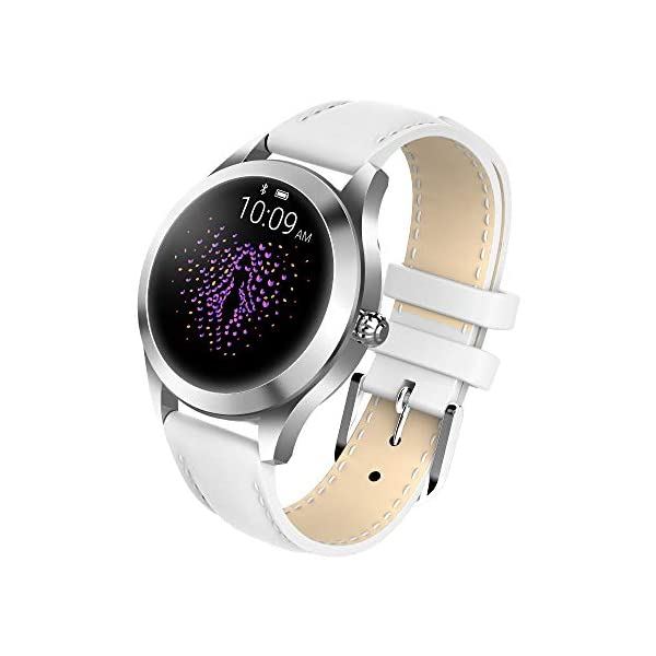 FBLWT Smartwatches Reloj Inteligente para Mujer Kw10 Color Ip68 Señoras Rastreador De Fitness Pantalla Táctil Redonda 7