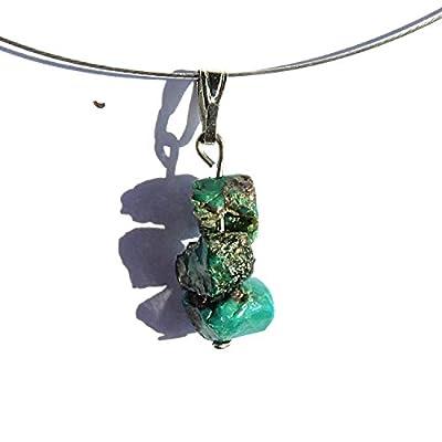 Bijoux ethnique, pendentif pierre turquoise, collier chrysocolle, bijoux turquoise, collier ethnique, pendentif chrysocolle naturelle