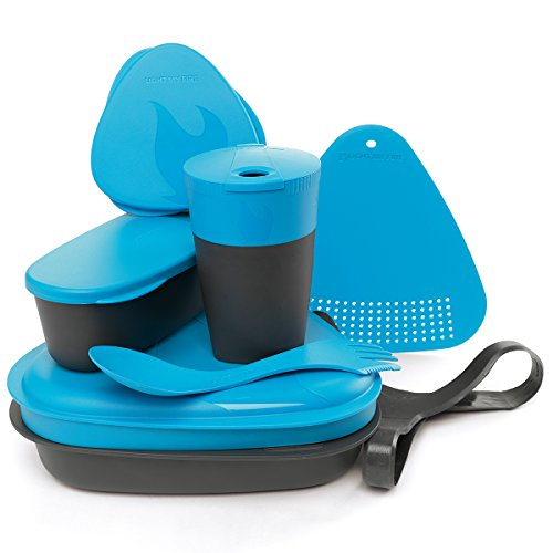 Light my Fire Essgeschirr Set Für Outdoor Cooking MealKit 2.0, cyan, Onesize, 4136