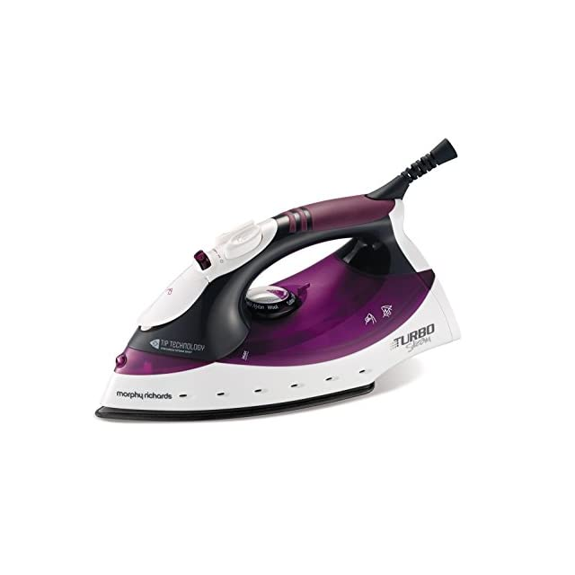 Morphy Richards Turbosteam Iron with Tip Technology - Purple/White