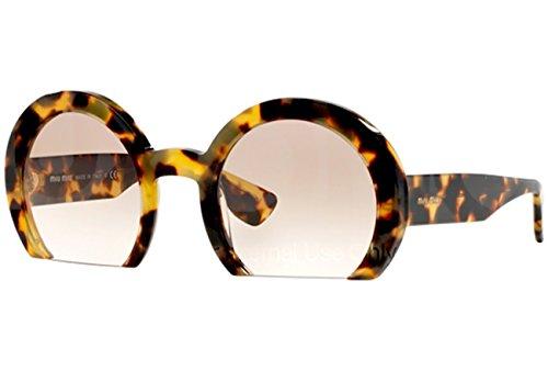Miu Miu Unisex Raisor MU07QS Sonnenbrille, Braun (Havana 7S01L0), One size (Herstellergröße: 52)