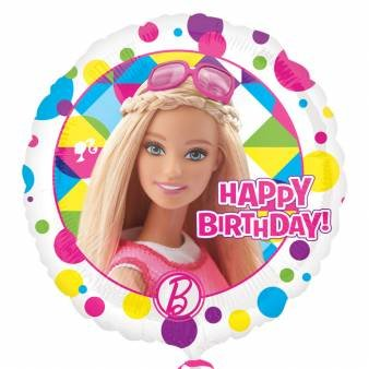 amscan 3065401 Barbie Sparkle Happy Birthday Folie Ballons (Box Halloween Barbie)