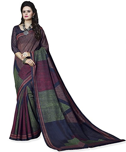 Miraan Women's Cotton Saree With Blouse Piece (SRH1579_MultiColoured_One Size)