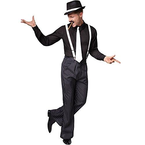 TecTake dressforfun Herrenkostüm Gentlemen | Hemd mit Nadelstreifenhose | Inkl. Hosenträger und Krawatte (S | Nr. 301610)