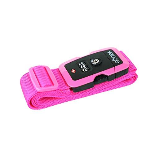 Verage Neon Gepäckgurt mit TSA Kombinationsschloss Pink